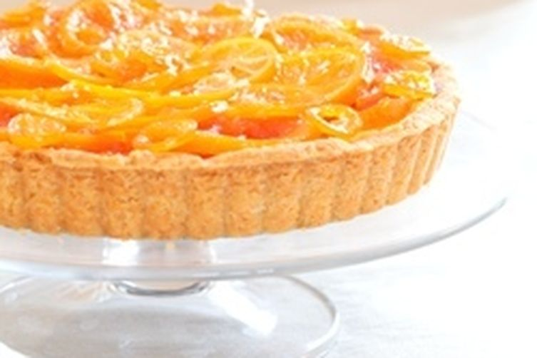 Candied Winter Citrus Tart with Vanilla Custard, Dark Chocolate ...