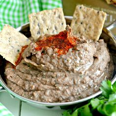 Spicy Black Bean Hummus Without Tahini