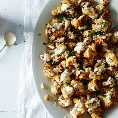 Spice-Roasted Cauliflower with Pine Nuts and Tahini Drizzle by ...