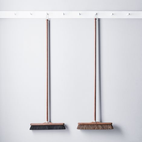 Vintage-Inspired French Exterior Ash Wood Broom
