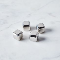Stainless Steel Whiskey Cubes (Set of 4)