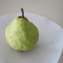 Pears En Pillowette with Almond Mascarpone Cream