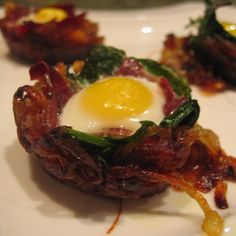 Duck! It's Baby Eggs in Onion Nests!