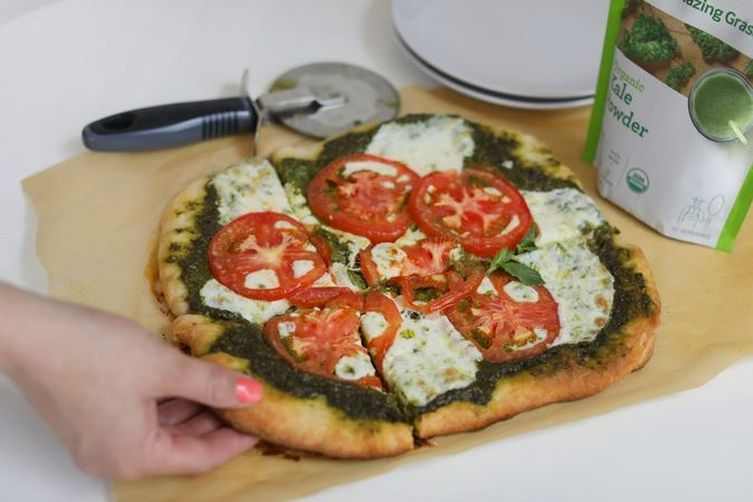 Kale-Powered Pesto Pizza