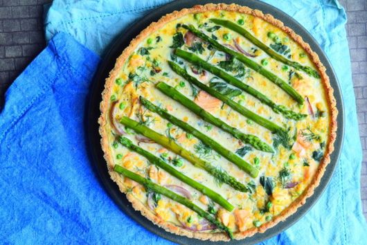 Salmon & Asparagus Tart
