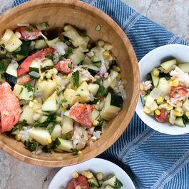 Lobster Zucchini Salad