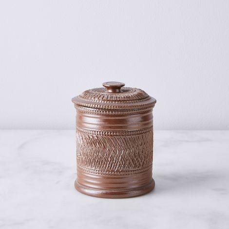 Vintage French Stoneware Spice Jar