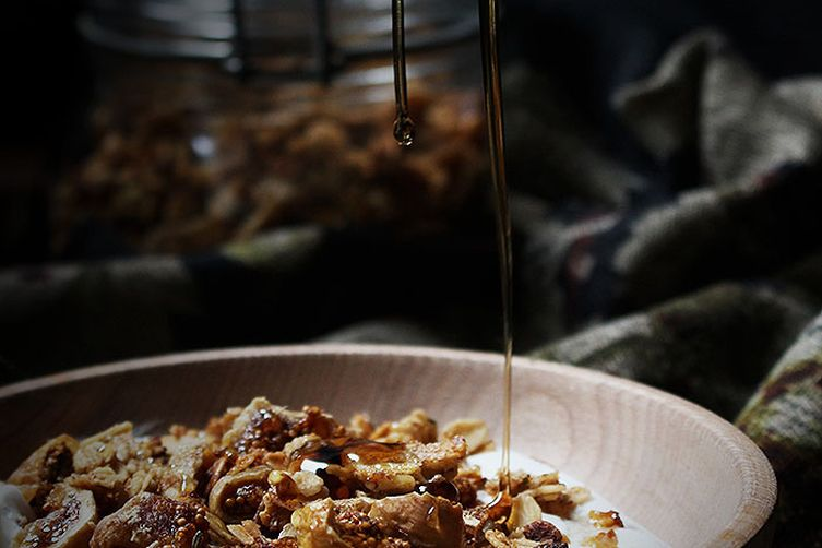 Rosemary, Fig, Walnut, and Honey Granola