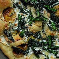 Broccoli Rabe, Potato and Rosemary Pizza
