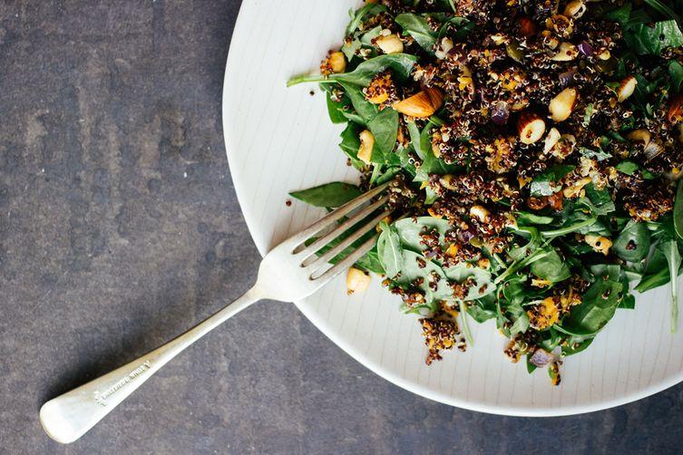 Nutty quinoa pilaf