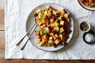 Panzanella with a Cornbread Twist