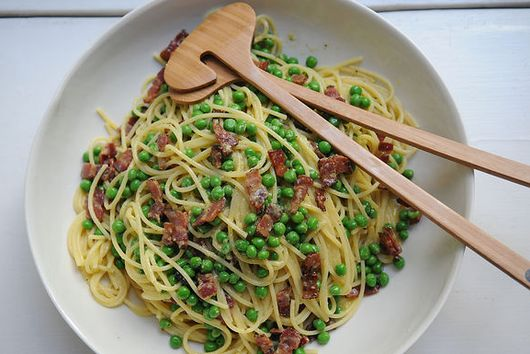 Dinner Tonight: Carbonara + Shaved Asparagus Salad