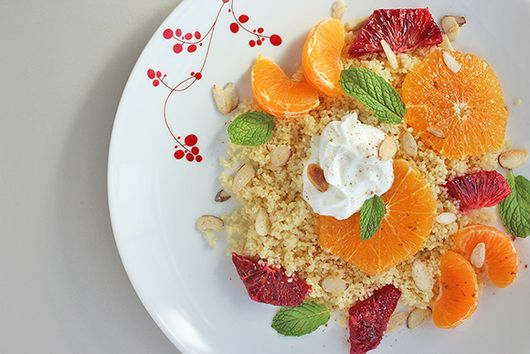 Couscous with Citrus, Yogurt, and Almonds