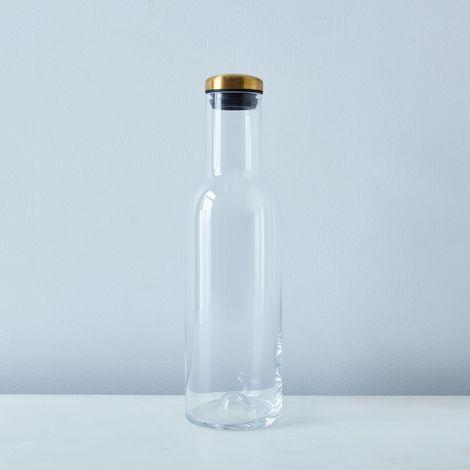 Glass & Brass Carafe