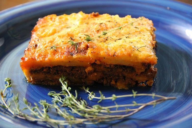 Potato Moussaka With Bolognese Sauce