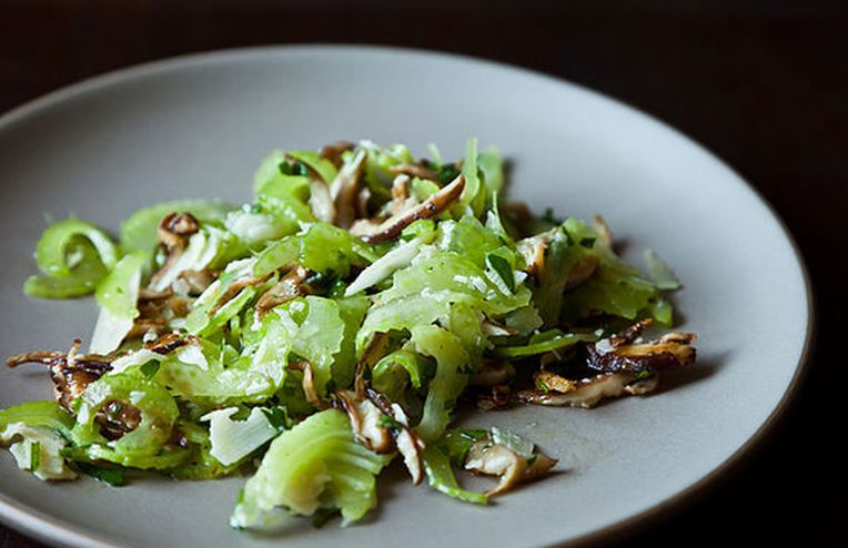 Dinner Tonight: Leek Risotto + Italian Celery Salad