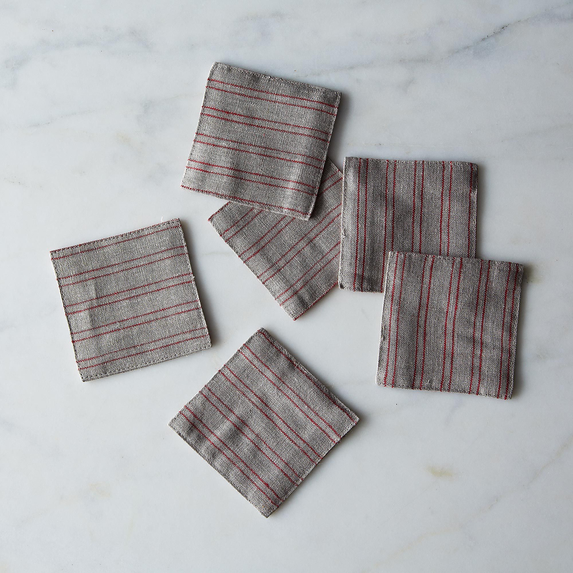 C53533ff b5fc 49d9 b2e5 ee6b132cfb1c  2013 1204 shop fog linen natural red stripe coasters 011