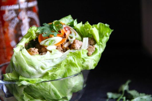 Thai-ish Turkey Mushroom Lettuce Wraps
