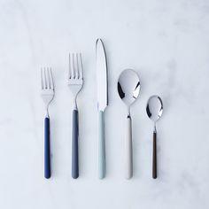Italian Flatware, Fantasia Color Flatware Set