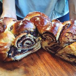Fig Butter & Nutella Challah