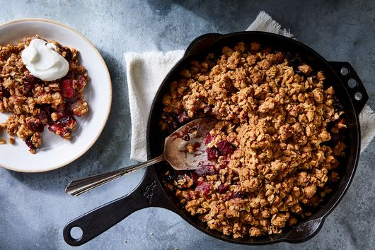Apple-Beet Crisp With Tangy Vanilla Goat Cheese