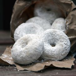 Classic Powdered Doughnuts (Baked Version)