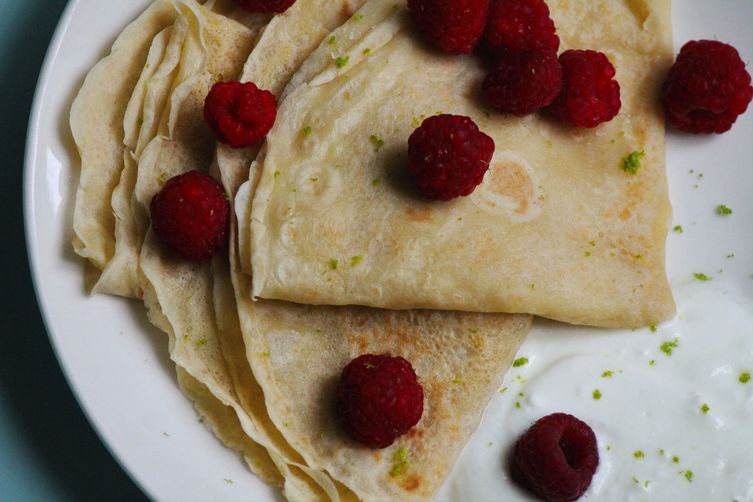 Coconut Crepes with Lime Sugar
