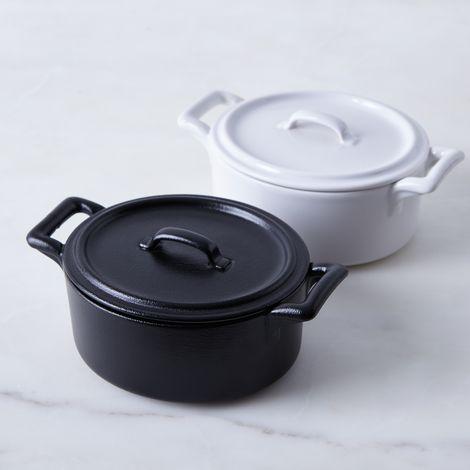 Porcelain Oval Cocotte, 0.49 QT