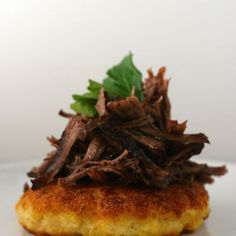 Polenta Cakes with Short Rib Ragu