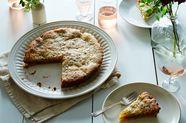 Bakewell Tart with Rhubarb-Hibiscus Jam