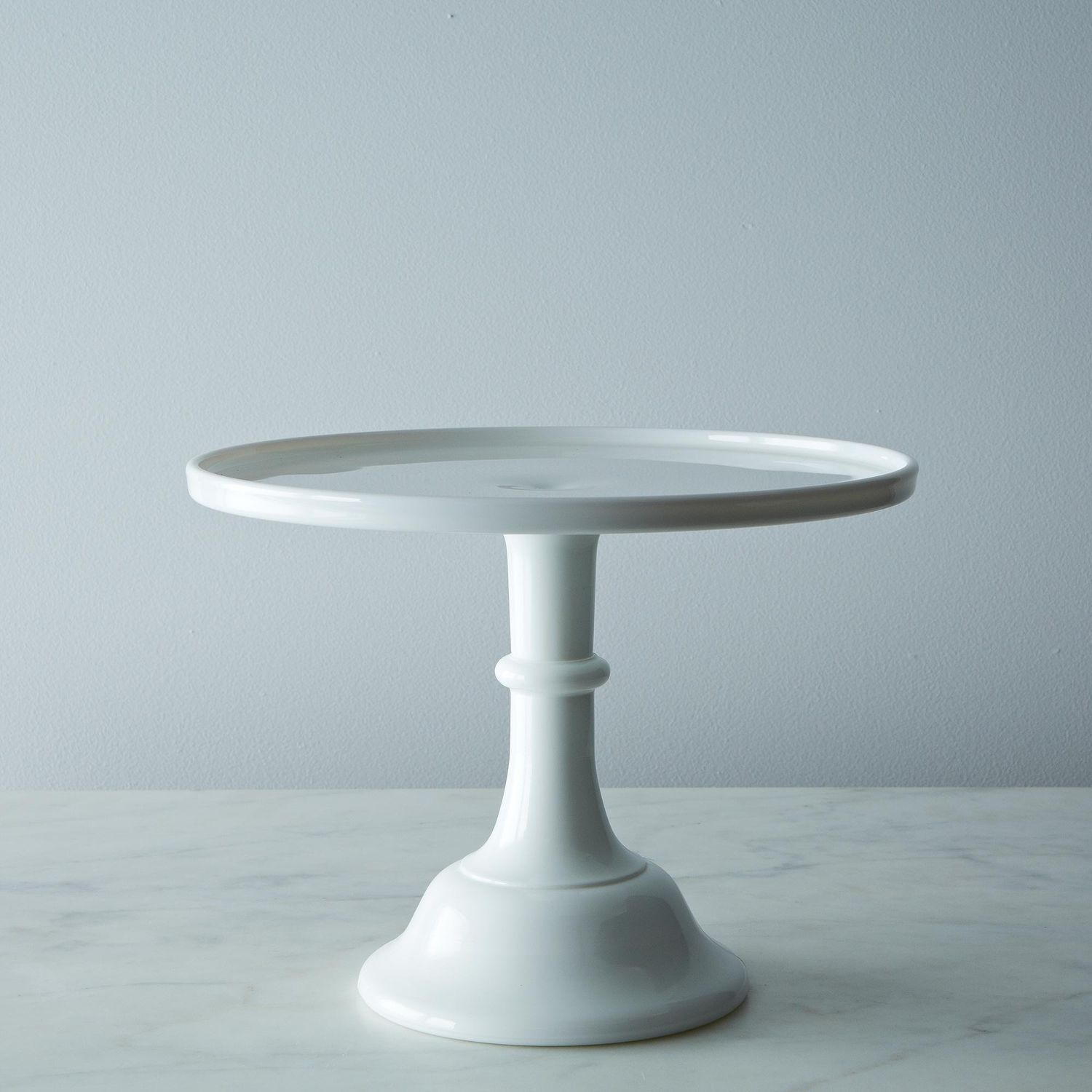 Real Milk Glass Cake Stand