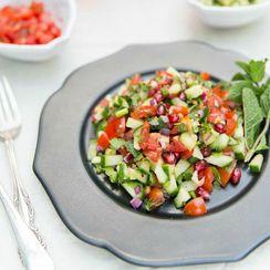 Pakistani Kachumber - Spiced tomato, cucumber and red onion salad