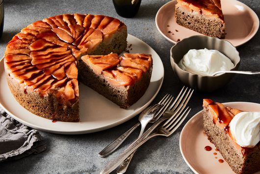 Quince Buckwheat Upside-Down Cake