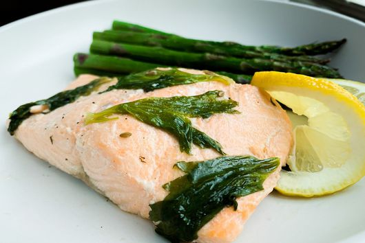 Celery Leaf & Fennel Poached Salmon