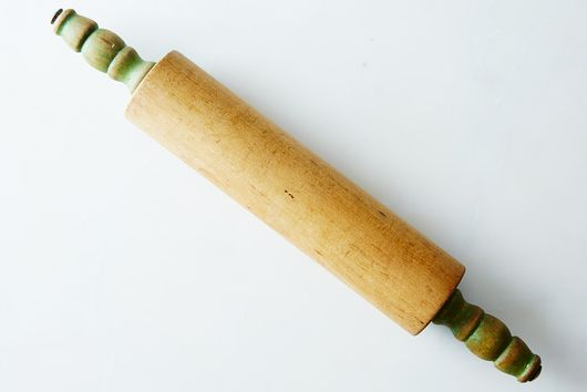 Vintage Green-Handled Rolling Pin