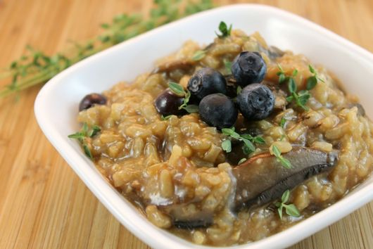 Blueberry-Mushroom Risotto