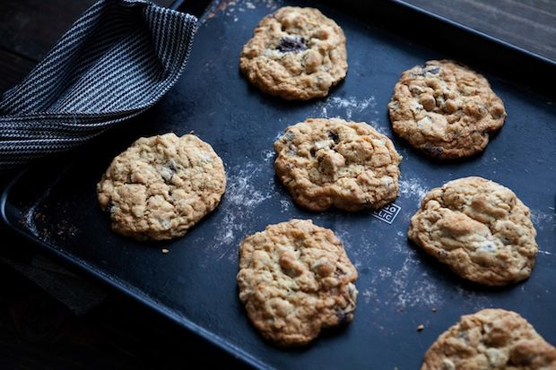 Chocolate fig oatmeal cookies from Food52