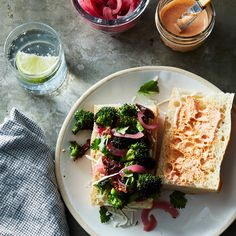 Spicy, Garlicky Broccoli Sandwich