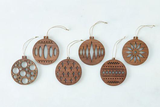 (OLD) Laser-Cut Scandi Wood Ornaments