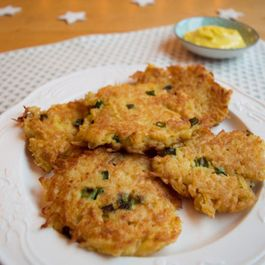 Potato Parsnip Latkes with Celebration Mayo