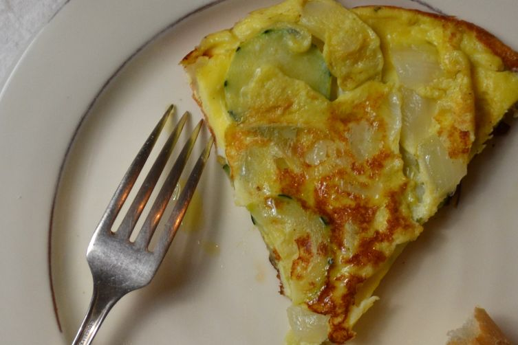 spanish tortilla with zucchini