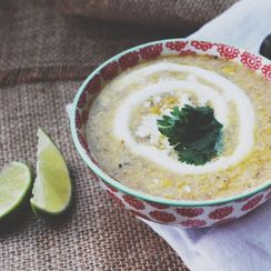 Corn Chowder with Bacon and Green Chiles