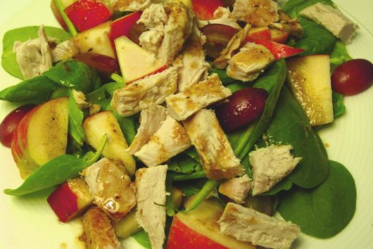 Apple Chicken Salad with Hazelnut Curry Vinaigrette
