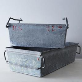 Vintage Zinc Bins