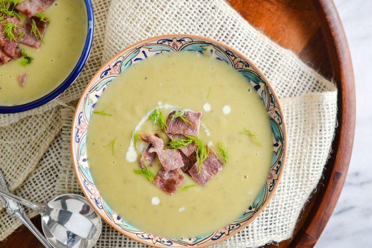 Potato, leek & fennel soup