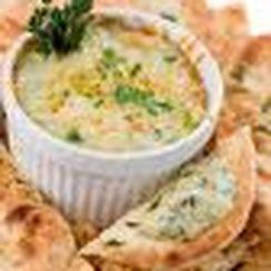 Hot and Cheesy Corn and Artichoke Dip