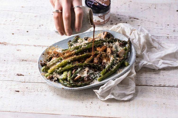 Asparagus Mushroom Poutine With BOU Gravy