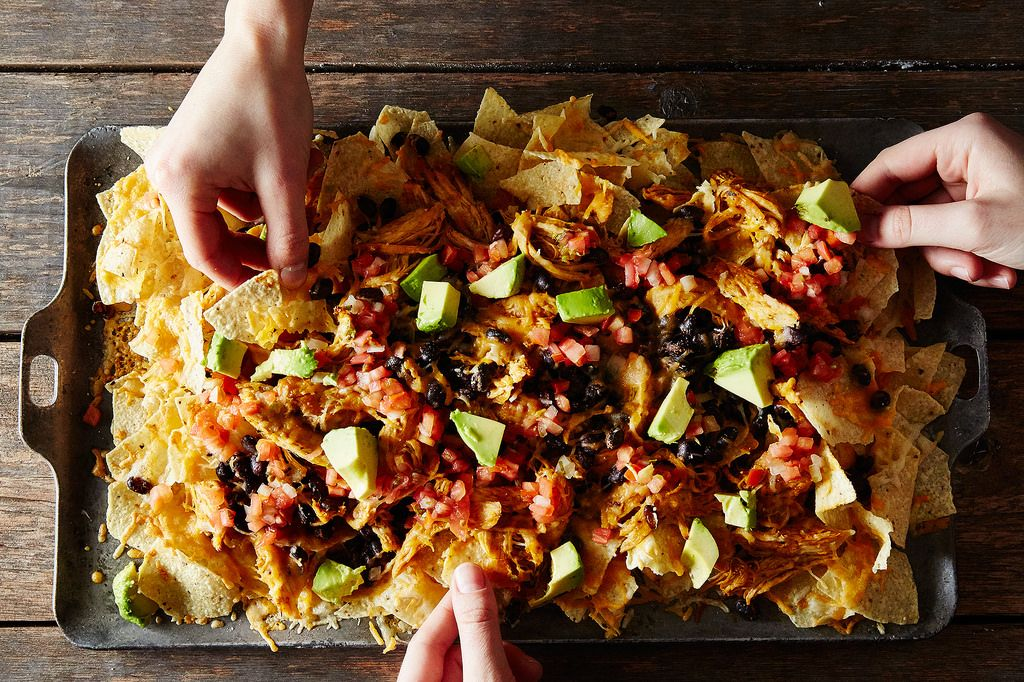 Black Bean Avocado Nachos