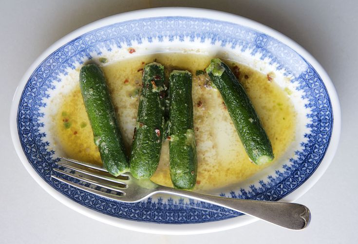 The Canal House's Zucchini with Spicy Anchovy Butter