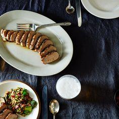 Basil-Ginger Marinated Pork Tenderloin